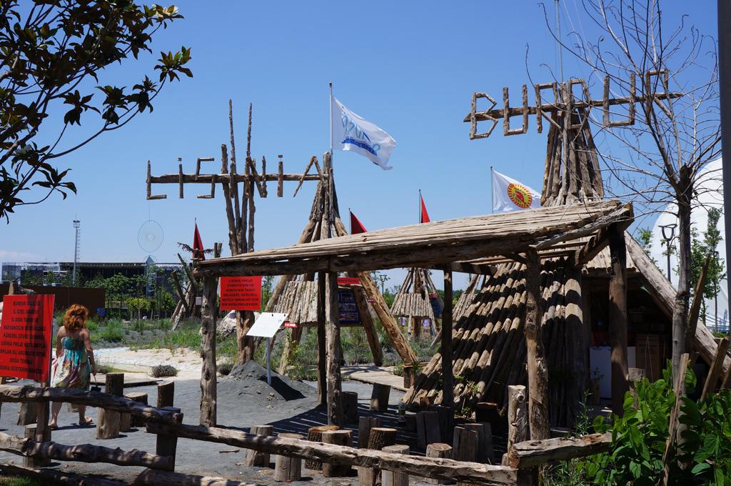 Площадка, представляющая Бурдур и экологический проект Lisinia